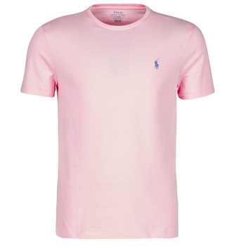 Clothing Men Short-sleeved t-shirts Polo Ralph Lauren T-SHIRT AJUSTE COL ROND EN COTON LOGO PONY PLAYER Pink