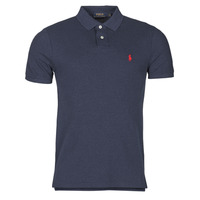 Clothing Men Short-sleeved polo shirts Polo Ralph Lauren POLO AJUSTE DROIT EN COTON BASIC MESH LOGO PONY PLAYER Marine