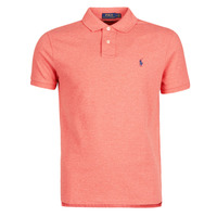 Clothing Men Short-sleeved polo shirts Polo Ralph Lauren POLO AJUSTE DROIT EN COTON BASIC MESH LOGO PONY PLAYER Orange