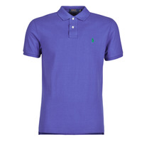 Clothing Men Short-sleeved polo shirts Polo Ralph Lauren POLO AJUSTE DROIT EN COTON BASIC MESH LOGO PONY PLAYER Blue
