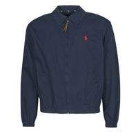 Clothing Men Jackets Polo Ralph Lauren BLOUSON BAYPORT EN COTON LEGER LOGO PONY PLAYER Blue