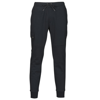 Clothing Men Tracksuit bottoms Polo Ralph Lauren PANTALON DE JOGGING CARGO EN DOUBLE KNIT TECH LOGO PONY PLAYER Black