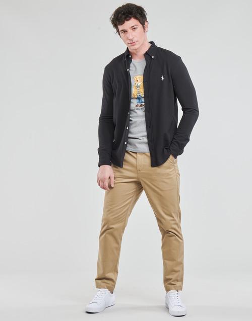 Clothing Men 5-pocket trousers Polo Ralph Lauren PANTALON CHINO PREPSTER AJUSTABLE ELASTIQUE AVEC CORDON INTERIEU Beige