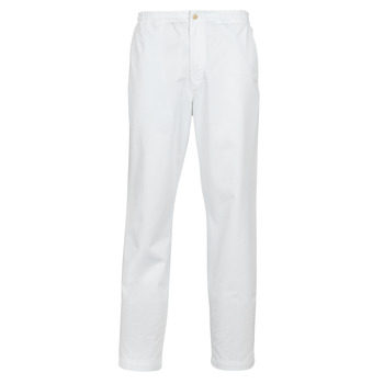Clothing Men 5-pocket trousers Polo Ralph Lauren PANTALON CHINO PREPSTER AJUSTABLE ELASTIQUE AVEC CORDON INTERIEU White