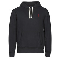 Clothing Men Sweaters Polo Ralph Lauren SWEAT A CAPUCHE MOLTONE EN COTON LOGO PONY PLAYER Black