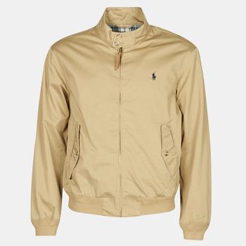 Clothing Men Jackets Polo Ralph Lauren BLOUSON BARACUDA COTON DOUBLE LOGO PONY PLAYER Beige
