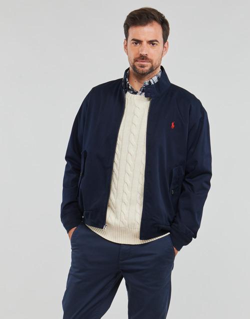Clothing Men Jackets Polo Ralph Lauren BLOUSON BARACUDA COTON DOUBLE LOGO PONY PLAYER Blue