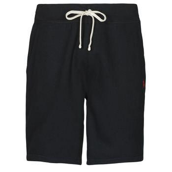 Clothing Men Shorts / Bermudas Polo Ralph Lauren SHORT MOLTONE EN COTON LOGO PONY PLAYER Black