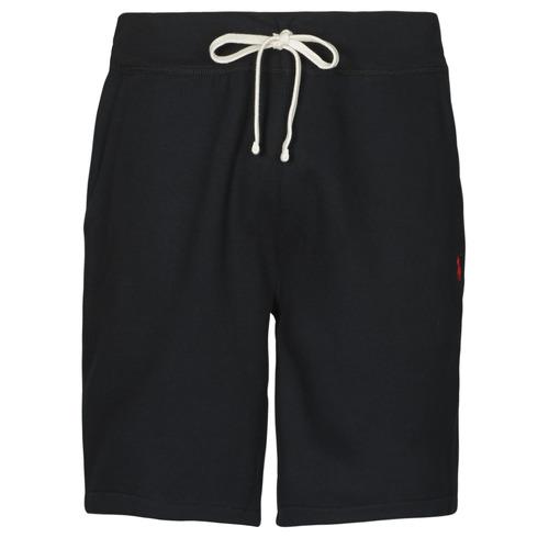 Clothing Men Shorts / Bermudas Polo Ralph Lauren SHORT MOLTONE EN COTON LOGO PONY PLAYER Black