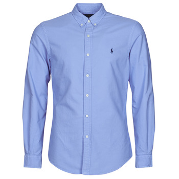 Clothing Men Long-sleeved shirts Polo Ralph Lauren POLORA Blue