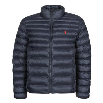 Clothing Men Duffel coats Polo Ralph Lauren BLOUSON DOUDOUNE EARTH POLO EN NYLON RECYCLE ET PRIMALOFT LOGO P Marine
