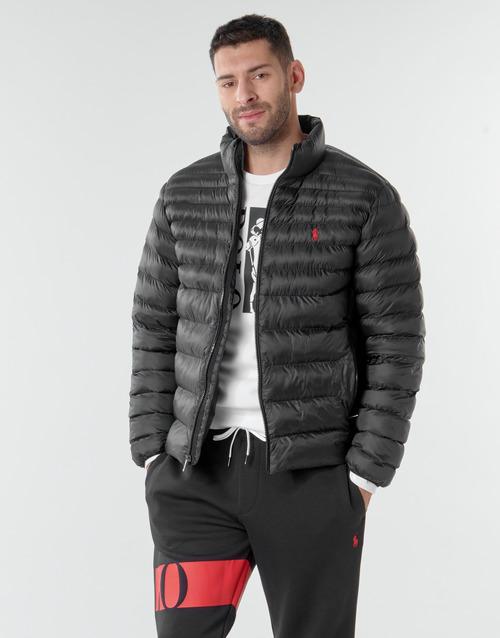 Clothing Men Duffel coats Polo Ralph Lauren BLOUSON DOUDOUNE EARTH POLO EN NYLON RECYCLE ET PRIMALOFT LOGO P Black