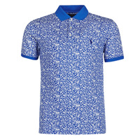 Clothing Men Short-sleeved polo shirts Polo Ralph Lauren POLO CINTRE SLIM FIT IMPRIME FLORAL SLIM FIT EN COTON STRETCH ME Blue
