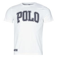 Clothing Men Short-sleeved t-shirts Polo Ralph Lauren T-SHIRT COL ROND INSCRIPTION POLO EN COTON White