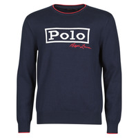 Clothing Men Jumpers Polo Ralph Lauren PULL COL ROND AVEC LOGO SIGNATURE POLO RALPH LAUREN DETAILS DE C Marine