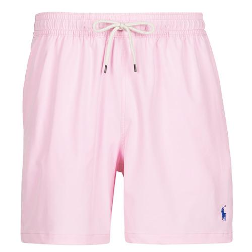 Clothing Men Trunks / Swim shorts Polo Ralph Lauren MAILLOT SHORT DE BAIN EN NYLON RECYCLE, CORDON DE SERRAGE ET POC Pink