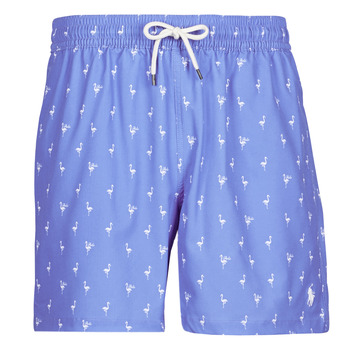 Clothing Men Trunks / Swim shorts Polo Ralph Lauren MAILLOT SHORT DE BAIN IMPRIME MICRO-MOTIFS CORDON DE SERRAGE ET Blue