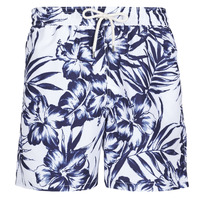 Clothing Men Trunks / Swim shorts Polo Ralph Lauren MAILLOT SHORT DE BAIN IMPRIME FLORAL CORDON DE SERRAGE ET POCHE Blue / White