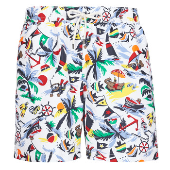 Clothing Men Trunks / Swim shorts Polo Ralph Lauren MAILLOT SHORT DE BAIN IMPRIME POLO BEAR CORDON DE SERRAGE ET POC Multicolour
