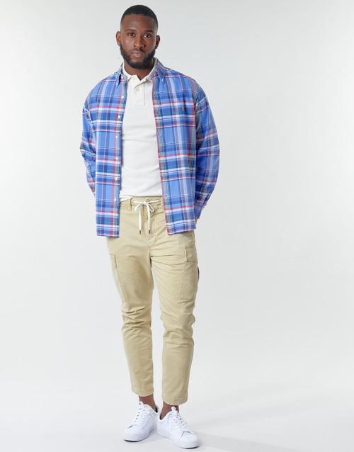 Clothing Men Cargo trousers Polo Ralph Lauren SHORT PREPSTER AJUSTABLE ELASTIQUE AVEC CORDON INTERIEUR LOGO PO Beige