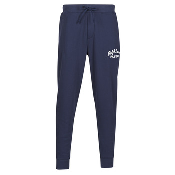 Clothing Men Tracksuit bottoms Polo Ralph Lauren BAS DE JOGGING EN MOLTON POLO RALPH LAUREN SIGNATURE Marine