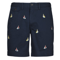 Clothing Men Shorts / Bermudas Polo Ralph Lauren SHORT CHINO BRODE LOGO PONY PLAYER Marine