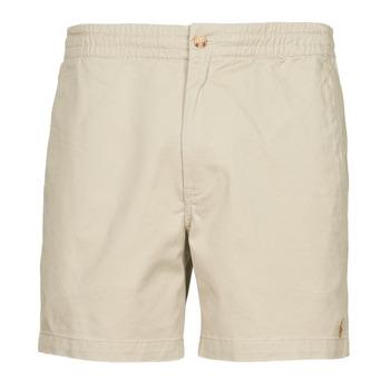 Clothing Men Shorts / Bermudas Polo Ralph Lauren SHORT PREPSTER AJUSTABLE ELASTIQUE AVEC CORDON INTERIEUR LOGO PO Beige