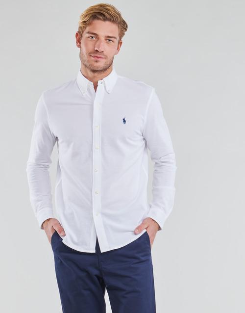 Clothing Men Long-sleeved shirts Polo Ralph Lauren COPOLO White