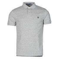 Clothing Men Short-sleeved polo shirts Polo Ralph Lauren POLO AJUSTE DROIT EN COTON BASIC MESH LOGO PONY PLAYER Grey