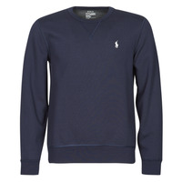 Clothing Men Sweaters Polo Ralph Lauren SWEATSHIRT COL ROND EN JOGGING DOUBLE KNIT TECH LOGO PONY PLAYER Blue / Marine