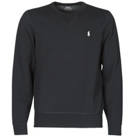 Clothing Men Sweaters Polo Ralph Lauren SWEATSHIRT COL ROND EN JOGGING DOUBLE KNIT TECH LOGO PONY PLAYER Black