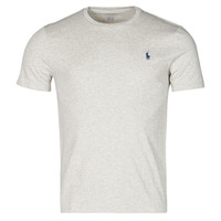 Clothing Men Short-sleeved t-shirts Polo Ralph Lauren T-SHIRT AJUSTE COL ROND EN COTON LOGO PONY PLAYER Grey