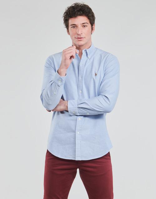 Clothing Men Long-sleeved shirts Polo Ralph Lauren LORENZ Blue