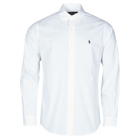 Clothing Men Long-sleeved shirts Polo Ralph Lauren CHEMISE AJUSTEE EN POPLINE DE COTON COL BOUTONNE  LOGO PONY PLAY White