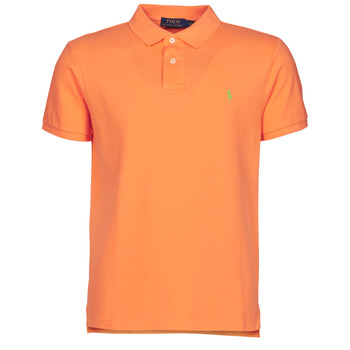 Clothing Men Short-sleeved polo shirts Polo Ralph Lauren POLO CINTRE SLIM FIT EN COTON BASIC MESH LOGO PONY PLAYER Orange
