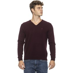 Clothing Men Sweaters Conte Of Florence Pullover Burgundy  Man Bordeaux