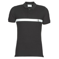 Clothing Men Short-sleeved polo shirts Calvin Klein Jeans HORIZONTAL CK PANEL POLO Black