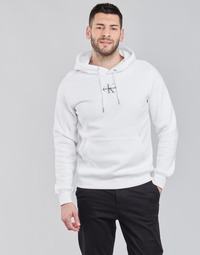 Clothing Men Sweaters Calvin Klein Jeans NEW ICONIC ESSENTIAL HOODIE White