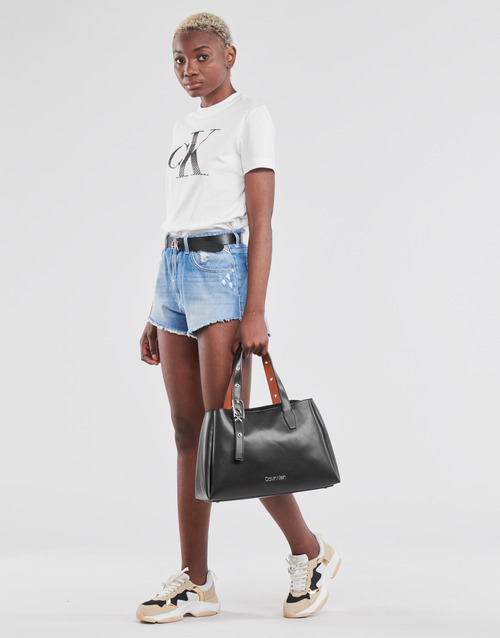 Calvin Klein Jeans SATIN BONDED FILLED CK TEE