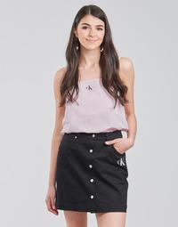 Clothing Women Tops / Blouses Calvin Klein Jeans MONOGRAM CAMI TOP Pink