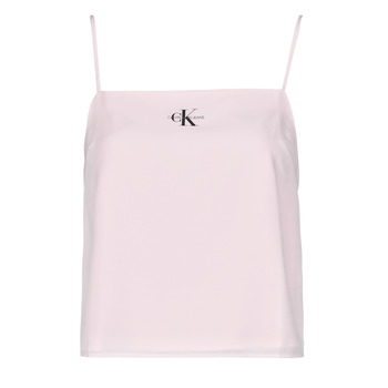 Clothing Women Tops / Blouses Calvin Klein Jeans MONOGRAM CAMI TOP Pink