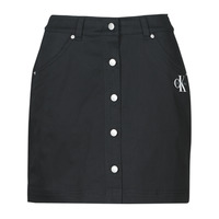 Clothing Women Skirts Calvin Klein Jeans COTTON TWILL MINI SKIRT Black