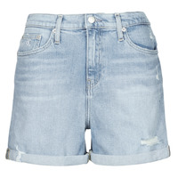 Clothing Women Shorts / Bermudas Calvin Klein Jeans MOM SHORT Blue / Clear