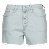 Clothing Women Shorts / Bermudas Calvin Klein Jeans HIGH RISE SHORT Blue / Clear