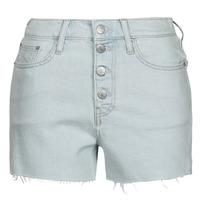 Clothing Women Shorts / Bermudas Calvin Klein Jeans HIGH RISE SHORT Blue / Clear