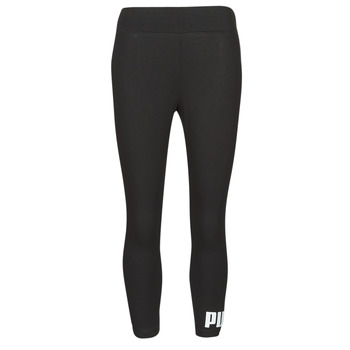 Clothing Women Leggings Puma ESS 3/4 LOGO LEGGING Black