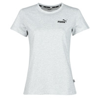 Clothing Women Short-sleeved t-shirts Puma ESS LOGO TEE Grey / Mottled
