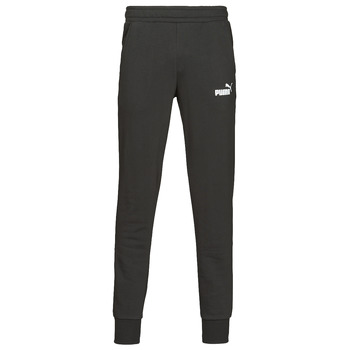 Clothing Men Tracksuit bottoms Puma ESS LOGO SLIM PANT LOGO FL CL Black