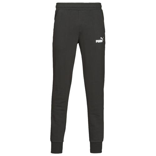 Clothing Men Tracksuit bottoms Puma ESS LOGO SLIM PANT LOGO FL CL Black