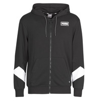 Clothing Men Sweaters Puma REBEL FZ HOOD Black